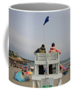 Lifeguards Watch Over The Traditional Coffee Mug by Stephen St. John
