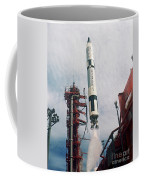 Lift-off Of Gemini-titan 11, Cape Coffee Mug