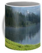Lifting Fog On The Yellowstone Coffee Mug