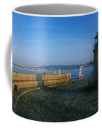 Light House At A Harbor, County Dublin Coffee Mug