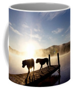 Light Of My Life Boxer Dogs On Dock Coffee Mug