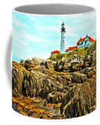 Light Over The Rocks Coffee Mug