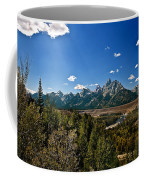 Light Rays On The Grand Tetons Coffee Mug