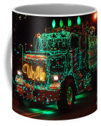 Lighted Green Dumptruck Coffee Mug