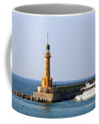 Lighthouse Along The Corniche Coffee Mug