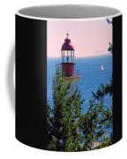 Lighthouse And Sailboats Coffee Mug
