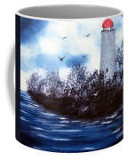 Lighthouse Blues Painterly Style Coffee Mug