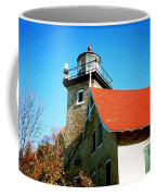 Lighthouse In The Fall Coffee Mug