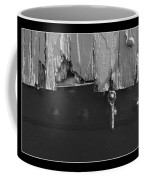 Lighthouse Shutter Black And White Coffee Mug