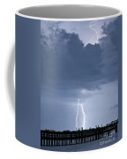 Lightning At The Pier Coffee Mug