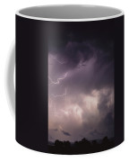 Lightning Flashes Over A Stand Of Trees Coffee Mug