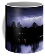 Lightning Over Coot Lake Coffee Mug