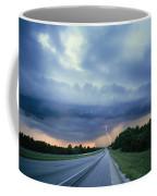 Lightning Over Highway, Bee Line Coffee Mug