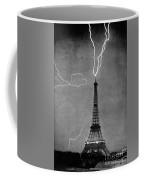 Lightning Strikes Eiffel Tower, 1902 Coffee Mug
