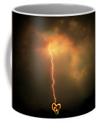 Lightning Strikes The Heart Coffee Mug