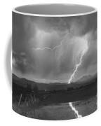 Lightning Striking Longs Peak Foothills 2bw Coffee Mug