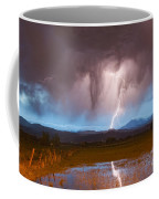 Lightning Striking Longs Peak Foothills 3 Coffee Mug