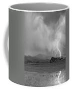 Lightning Striking Longs Peak Foothills 7cbw Coffee Mug