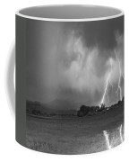 Lightning Striking Longs Peak Foothills 8cbw Coffee Mug
