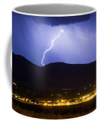 Lightning Striking Over Ibm Boulder Co 1 Coffee Mug
