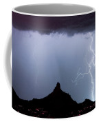 Lightning Thunderstorm At Pinnacle Peak Coffee Mug