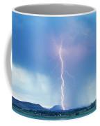 Lightning Twine Striking The Colorado Rocky Mountain Foothills Coffee Mug
