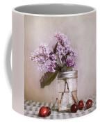 Lilac And Cherries Coffee Mug by Priska Wettstein