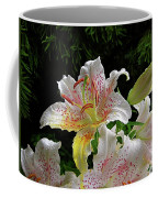 Lilies In The Rain Coffee Mug