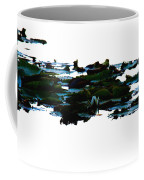 Lily Pads On White Water Coffee Mug