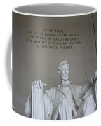 Lincoln Memorial - Enshrined Forever Coffee Mug
