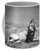 Lion King In Black And White Coffee Mug