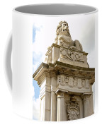 Lion On Pedestal Coffee Mug