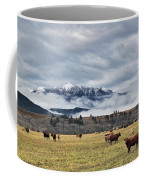 Livingstone Range And Pastureland Coffee Mug