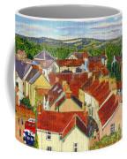 Painting Llandovery Roof Tops Coffee Mug