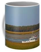 Lobster Boat Along Maine Coffee Mug