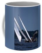 Log Canoe Race Coffee Mug by Skip Willits
