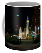 Logan Circle Fountain With City Hall At Night Coffee Mug by Bill Cannon