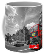 London Big Ben And Red Bus Coffee Mug