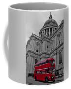 London Bus At St. Paul's Coffee Mug