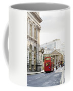 London Street With View Of Royal Exchange Building Coffee Mug