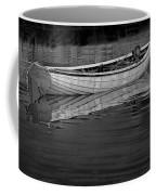 Lone White Boat In Nova Scotia Coffee Mug