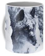 Lone Wolf In Snow Coffee Mug