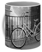 Lonely Bike In Black And White Coffee Mug