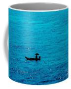 Lonely Fishing Boat Coffee Mug