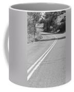 Long And Winding Road Bw Coffee Mug