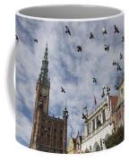 Long Market With Pigeons, Town Hall Coffee Mug by Keenpress