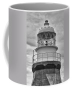 Long Point Lighthouse - Black And White Coffee Mug