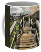 Long Stairway To Beach Coffee Mug