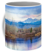Longs Peak And Mt Meeker Sunrise At Golden Ponds Coffee Mug