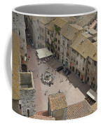 Looking Down On The Red Tile Rooftops Coffee Mug